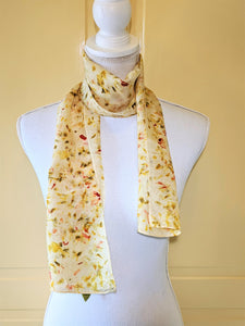 Dot to Dot / Yellow, Green & Orange Eco Print Scarf