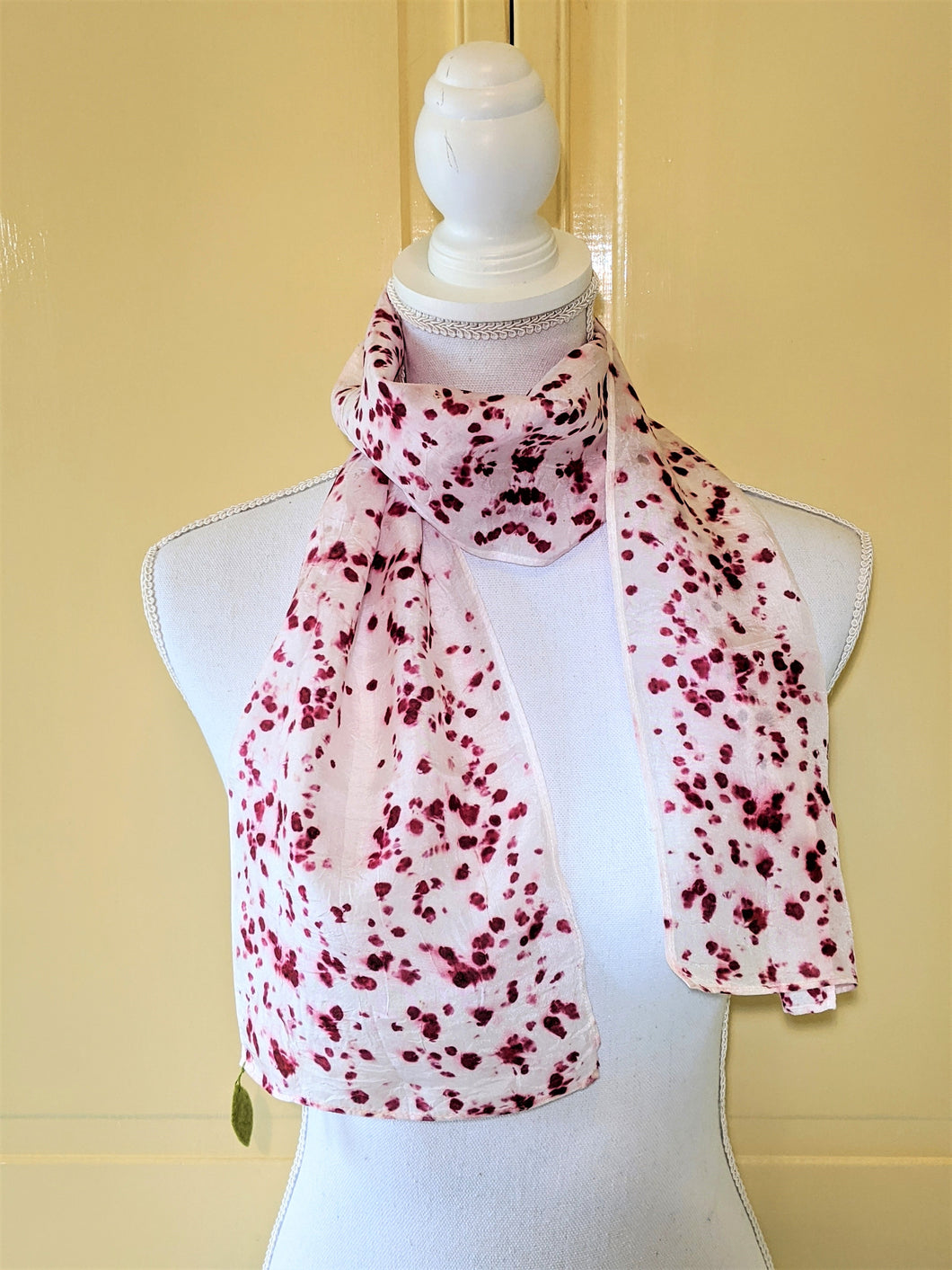 Dot to Do / Red Eco Print Scarf