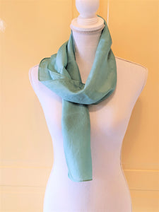Solid Shade Indigo Dyed Silk Scarf