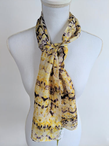 Dot to Dot / Red & Yellow Print Scarf