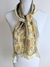Silk Habotai Eco-Printed and Naturally Dyed Scarf