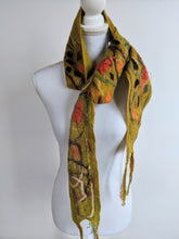 Hand Felted Layered Merino Scarf