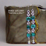 Chainmaille / Swarovski Crystal Blue Zircon Earrings