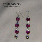 Chainmaille / Swarovski Crystal Lilac Shadow, Earrings