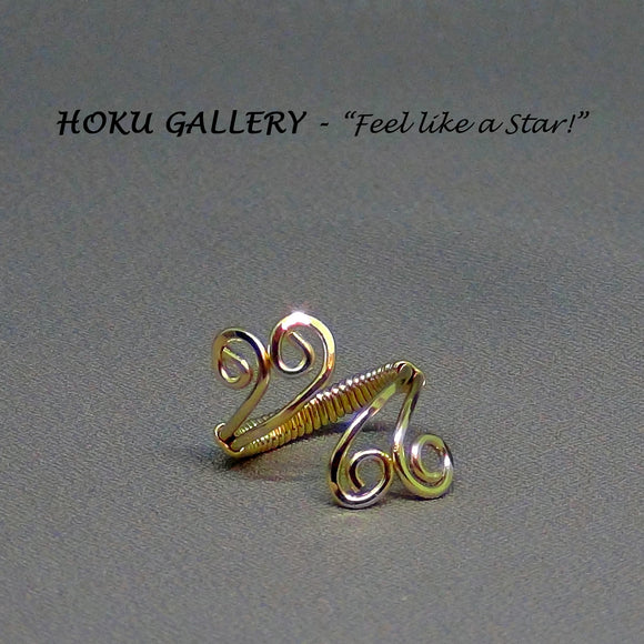 Wire wrapped, Adjustable Ring - Hoku Gallery - Hoku Gallery