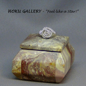 Wirewrapped, Spiral, Rose Ring by Hoku Gallery - Hoku Gallery