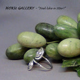 Wire wrapped, Adjustable, Double Swirl Ring by Hoku Gallery - Hoku Gallery
