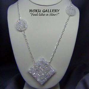 Swarovski Crystal AB Rocks Necklace - Hoku Gallery - Hoku Gallery