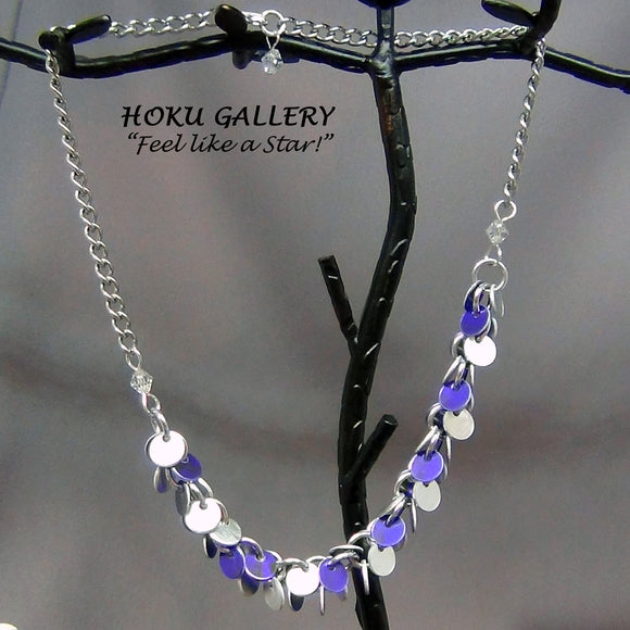 Chainmaille / Shaggy Disc Necklace - Hoku Gallery - Hoku Gallery