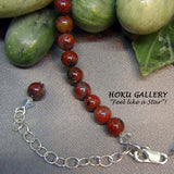 Vintage Natural Poppy Jasper Gemstone Necklace - Hoku Gallery - Hoku Gallery