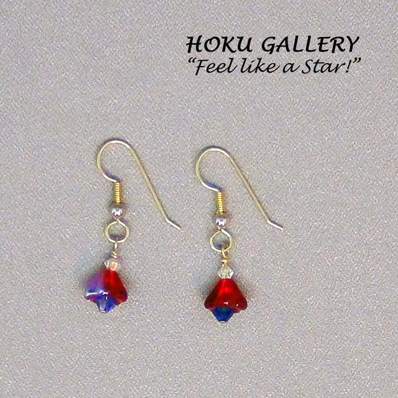 Czeck (1) Glass Trumpet Bell Mini Christmas Tree Earrings - Hoku Gallery