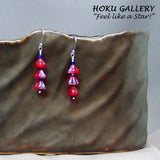 Czeck (3) Glass Trumpet Bell Mini Christmas Tree Earrings - Hoku Gallery