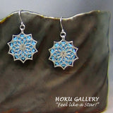 Up cycled Filigree Earrings w/ Swarovski Crystal Fine Rocks  - Stainless Steel Earwires- Hoku Gallery - Hoku Gallery