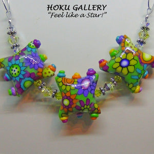 "Polymer Clay ""Smile"" Necklace - Hoku Gallery"