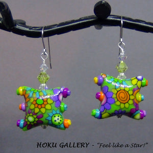 "Polymer Clay ""Smile"" Earrings - Hoku Gallery"