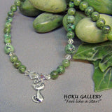 Vintage Natural Untreated African Turquoise Gemstone w/Cat Charm  - Hoku Gallery - Hoku Gallery