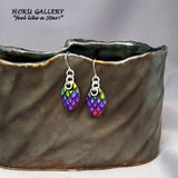 Dragon Scale Earrings  - Rainbow Pride Earrings/Small Scale - Hoku Gallery