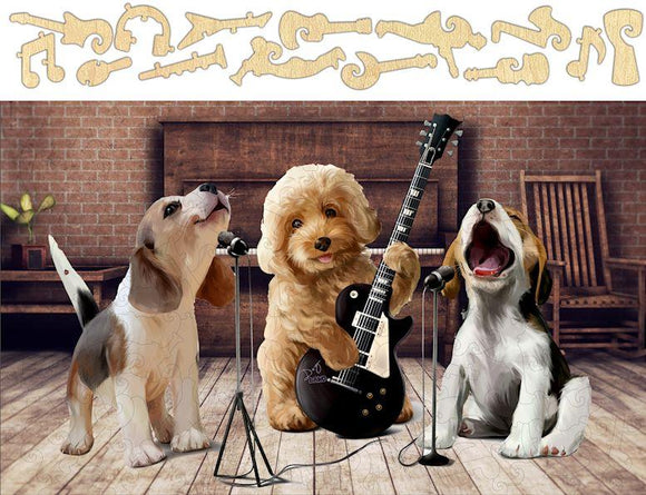 Puppy Band Jigsaw Puzzle