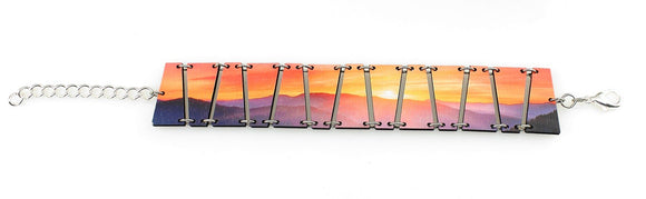 Sunset Laser Cut Wood Bracelet