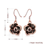 Flower Drop Earring in 18K Rose Gold Plated