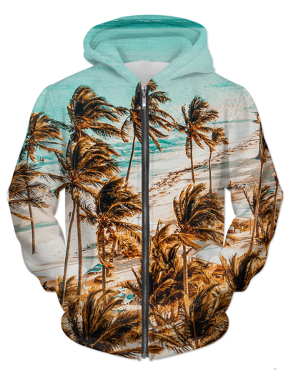 Men's / Unisex Beach ZIP HOODIE - Hoku Gallery