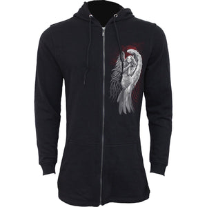 Women's / Unisex ANGEL DESPAIR - Fish Tail, Full Zip Hoodie - Hoku Gallery
