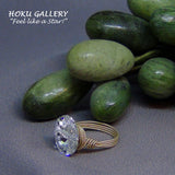 Right Side View Swarovski Crystal Wire wrapped Ring by Hoku Gallery