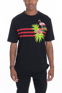 Men's Flamingo Tee- Black - Hoku Gallery