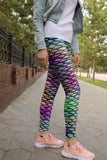 Women's Colorful Mermaid leggings, Capris and Shorts - Hoku Gallery