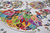 Creative One Adult Puzzle-Color Challenge-1000 Pieces Round Puzzle