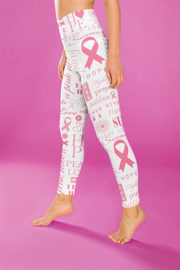 Women's High & Mid Waist Cancer Awareness leggings, Capris and Shorts - Hoku Gallery