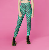 Women's High & Mid Waist Mermaid leggings, Capris and Shorts - Hoku Gallery