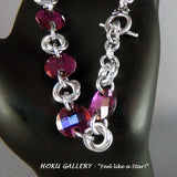 Close-up of chainmaille bracelet by Hoku Gallery
