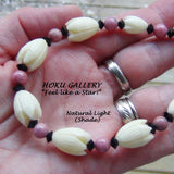 Bracelet  - Vintage Resin Pikaki Beads from Hawaii - Hoku Gallery
