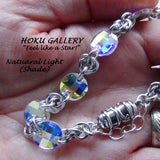 Chainmaille Bracelet  - Crystal AB Round Chessboard Swarovski - Hoku Gallery
