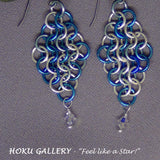 Chainmaille Earrings - Enameled Copper Rings