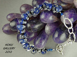 Teardrop Shaped Glass Beads, Blue Jean Blue Bracelet - Hoku Gallery