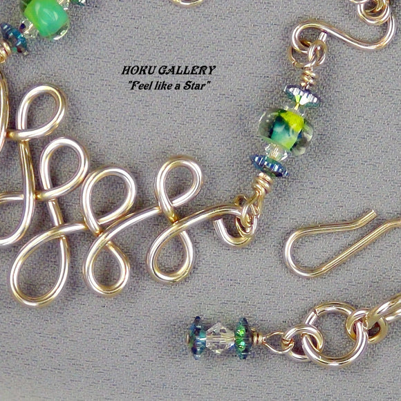 Wirewrap, 14k Gold Filled, Lampwork Seed Beads - Hoku Gallery