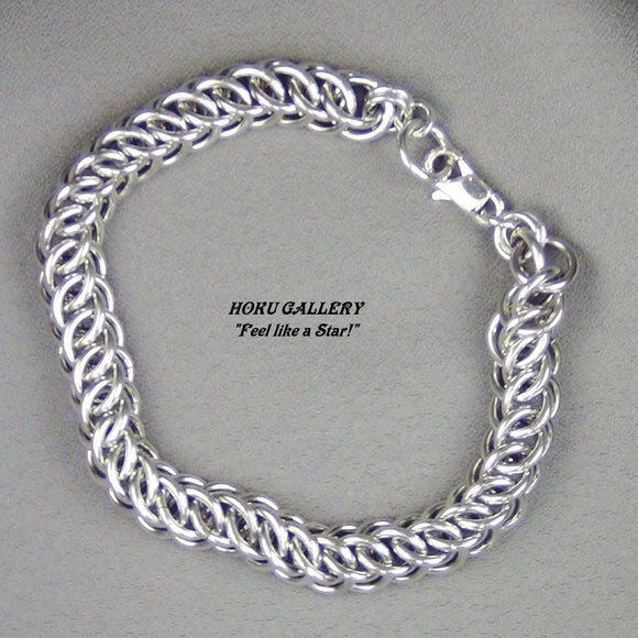 Chainmaille Bracelet - Unisex Persian 3-in-1 Weave - Hoku Gallery