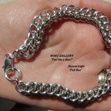 Sunlight exposure of chainmaille bracelet by Hoku Gallery