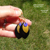 Dragon Scales, Black and Gold Anodized Aluminum, Purple Anodized Aluminum Circles