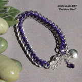 Chainmaille, Aluminum Rings, Purple Anodized Aluminum - Magnetic Clasp