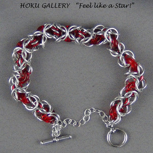 Chainmaille, Aluminum Rings, Enameled Copper Rings, Czech Pressed Glass Rings - Hoku Gallery