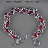 Chainmaille, Aluminum Rings, Enameled Copper Rings Bracelet - Hoku Gallery