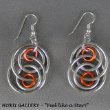 Chainmaille Earrings, Aluminum Rings,  SS Earwires - Hoku Gallery