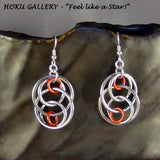 Chainmaille Earrings, Aluminum Rings,  SS Earwires