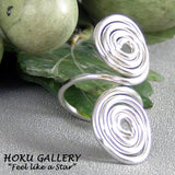 Wirewrapped, 14ga SS Round Wire, Adjustable Ring