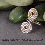 Wirewrapped, 16ga 14k GF Round Wire, Adjustable Ring - Hoku Gallery