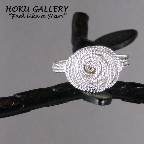 Wirewrapped, 20ga Sterling Silver Twisted Round Wire Ring - Hoku Gallery
