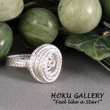 Wirewrapped Ring, 16ga Sterling Silver Textured Round Wire